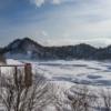 雪にうもる恵岱別ダム