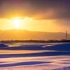 荘厳な朝の光