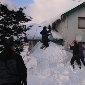 北竜町長 佐野豊 活動報告・1月20日(水)ライオンズクラブ奉仕活動(独居住宅除雪作業)