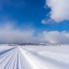 どこまでも続く雪道