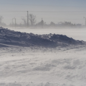 吹雪が描く風景