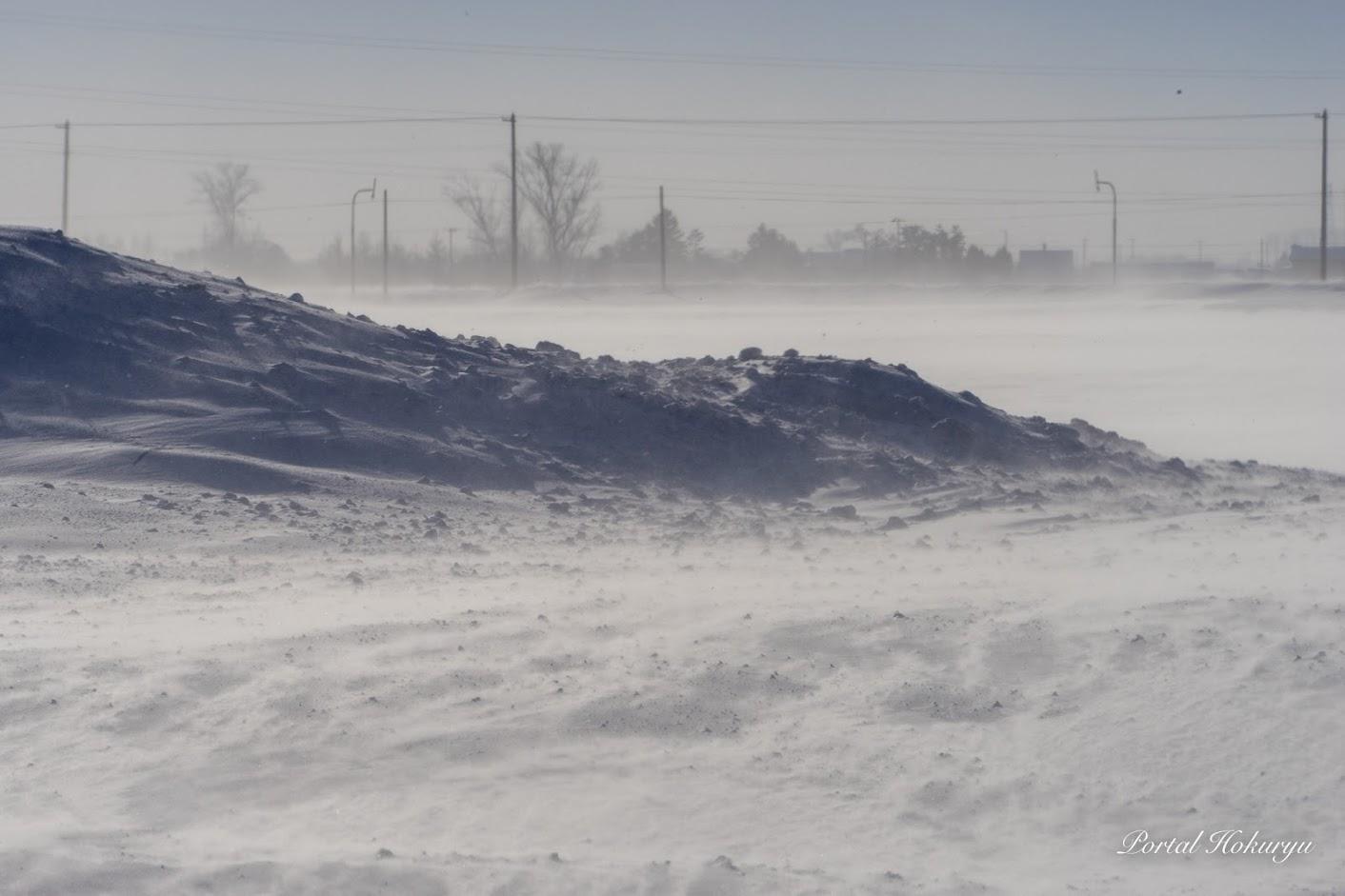 吹雪織り成す風景