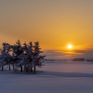 氷点下23℃の朝陽