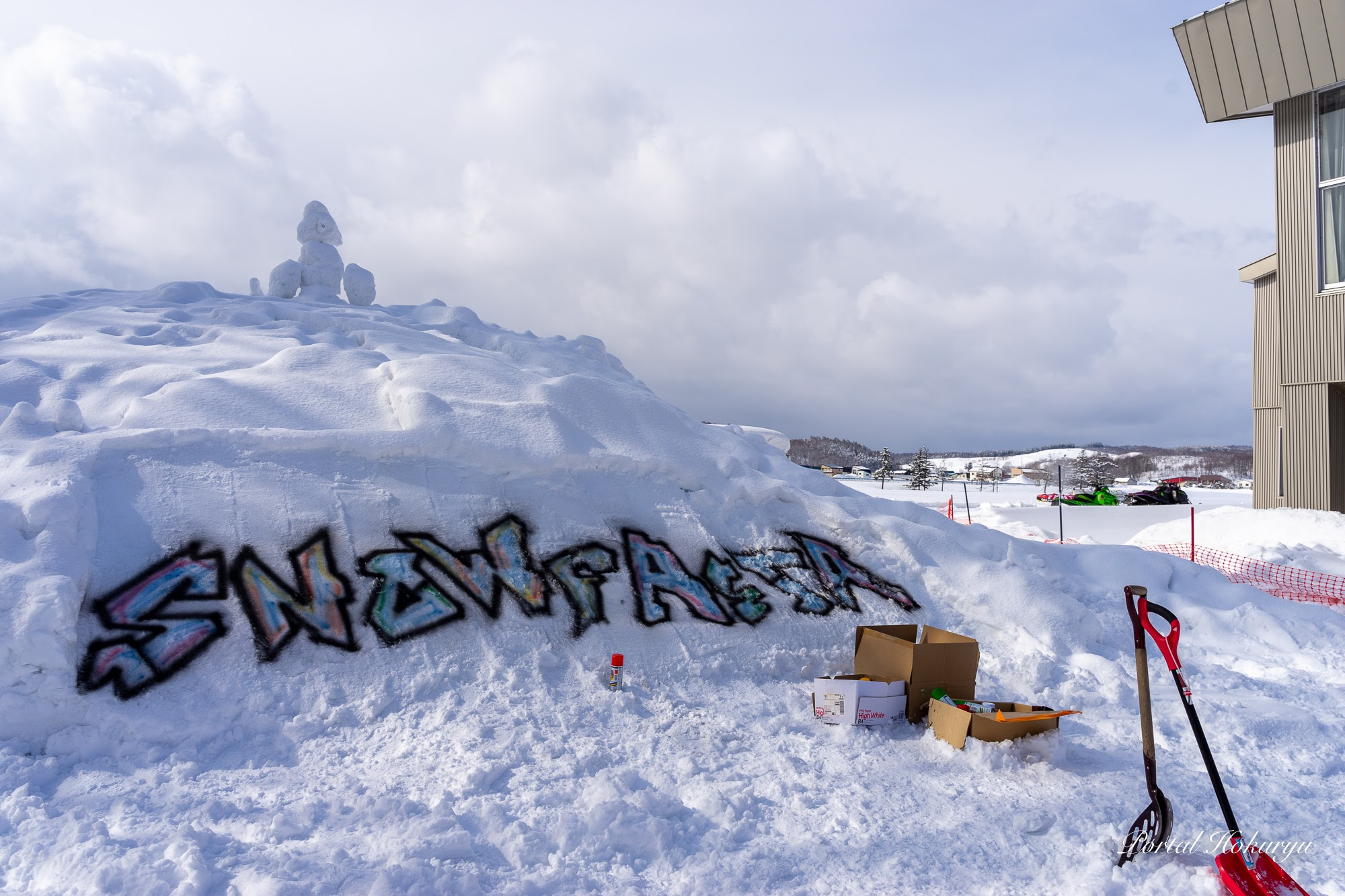 snow festaの文字